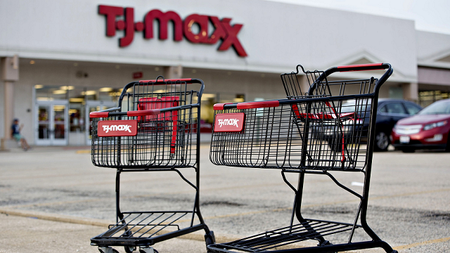 TJX Companies, which owns TJ Maxx, Marshalls and HomeGoods, has continued to pay its employees even with widespread power and water shortages, and dozens of stores remain closed. (Daniel Acker/Bloomberg/Getty Images)