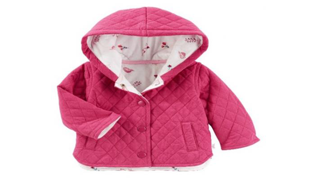 OshKosh is recalling 38,000 Baby B'gosh quilted jackets after discovering the snaps can detach, posing a choking hazard. (Photo: US Consumer Product Safety Commission)