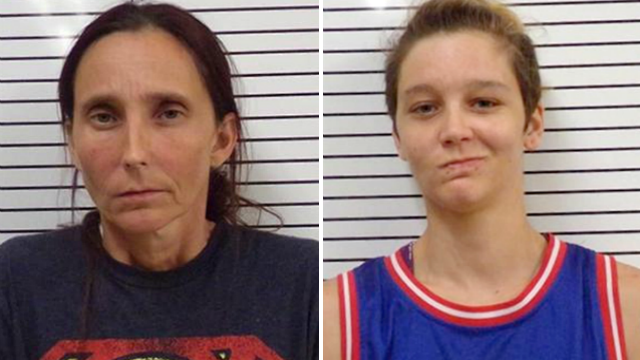 Misty Spann, 26, (right) pleaded guilty to incest, while her mother, 44-year-old Patricia Spann (left) has pleaded not guilty to the same offense. (Stephens County Sheriff 's Office)