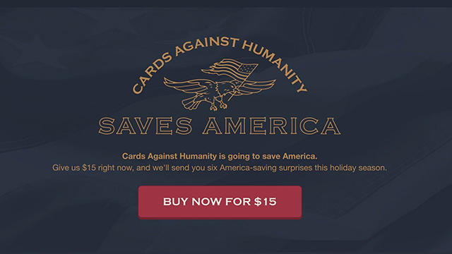 'Cards Against Humanity' buys land to try to stop border wall