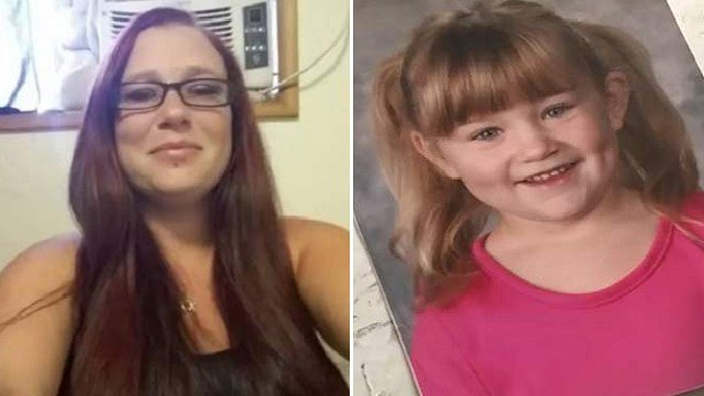Honey Cosgrove, 37, (left) and her daughter, Nevaeh Applegate, 8, (right) died in a motor home fire in Amity, Oregon. (Family Photos provided to KPTV)