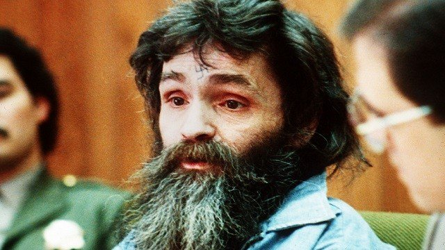 In this 1986 file photo, Charles Manson is seen in court. Authorities say Manson, cult leader and mastermind behind 1969 deaths of actress Sharon Tate and several others, died on Sunday, Nov. 19, 2017. He was 83. (AP Photo, File)