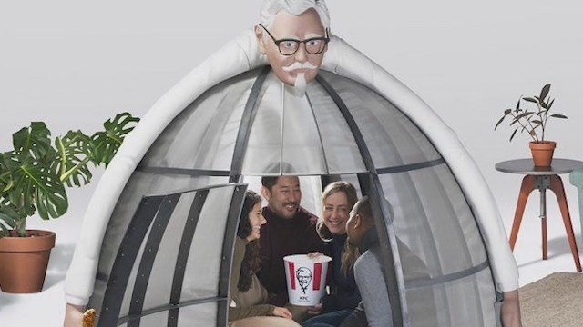 KFC wants you to escape the internet. This is how