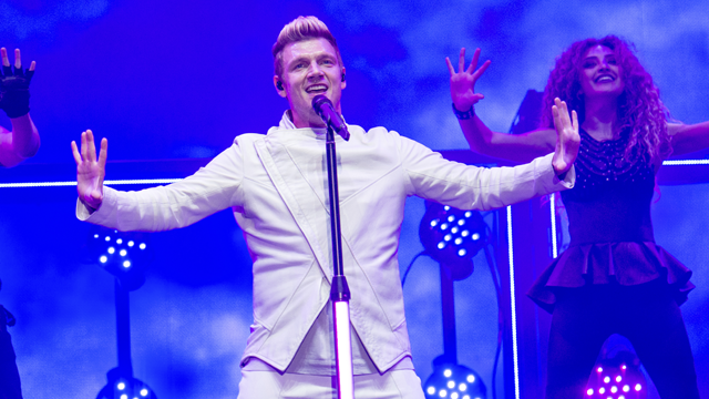 Nick Carter of the Backstreet Boys performs during the Festival d'ete de Quebec on Sunday, July 9, 2017, in Quebec City, Canada. (Photo by Amy Harris/Invision/AP)
