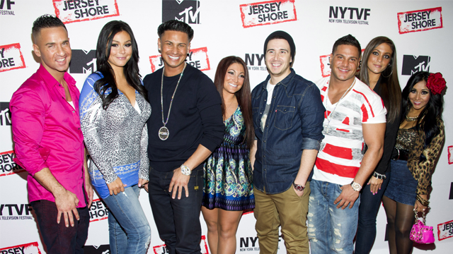 """This Oct. 24, 2012 file photo shows """"Jersey Shore"""" cast members. (Photo by Charles Sykes/Invision/AP, File)"""