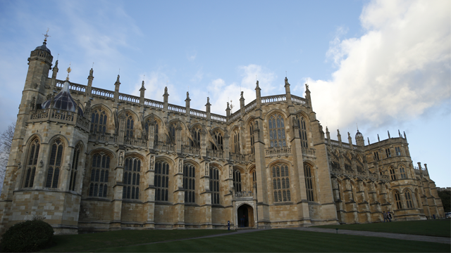 A general view of St George's Chapel within the walls of of Windsor Castle, in Windsor, England, Tuesday, Nov. 28, 2017. (AP Photo/Alastair Grant)