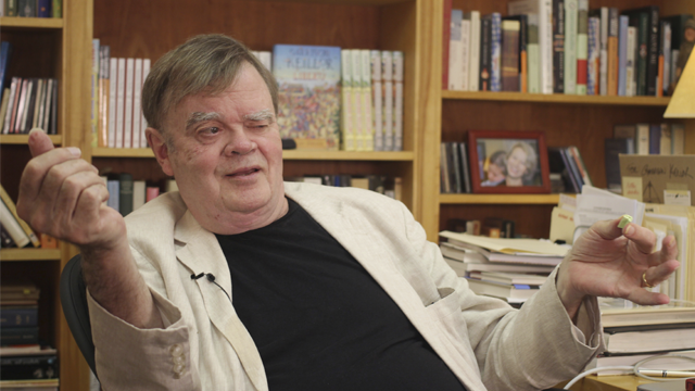 "Garrison Keillor, the former host of ""A Prairie Home Companion,"" said he has been fired by Minnesota Public Radio over allegations of improper behavior. (AP Photo/Jeff Baenen, File)"