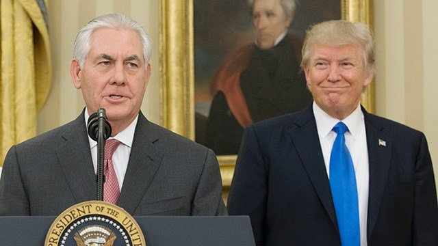 The White House is contemplating a scenario to replace Secretary of State Rex Tillerson with CIA Director Mike Pompeo within the next few months, multiple government officials tell CNN.  (Michael Reynolds-Pool/Getty Images)