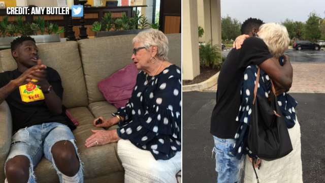 Young man meets woman, 86, he'd been playing Words With Friends with for a year
