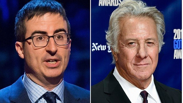 John Oliver confronts Dustin Hoffman over sexual harassment in testy exchange