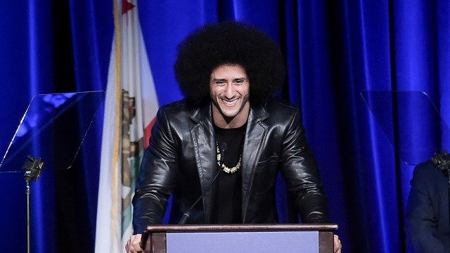 Colin Kaepernick attends the 2017 ACLU SoCal's Bill of Rights Dinner at the Beverly Wilshire Hotel on Sunday, Dec. 3, 2017, in Beverly Hills, Calif. (Photo by Richard Shotwell/Invision/AP)