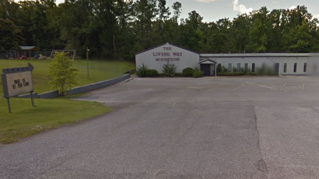 """""""They falsely accused Jesus. Vote Roy Moore."""" That's the phrase that has anAlabama church in hot water. (Photo: Google Maps)"""