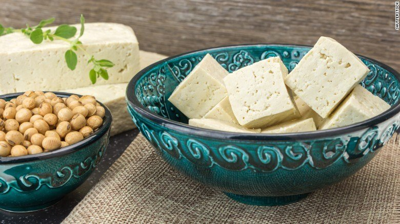 Soy serves as a source of protein, such as in the form of tofu.