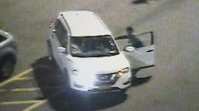 Police are seeking three women captured on video dragging a security guard as they drove away from a New Jersey mall parking lot. (Photo: Screenshot, AP Video)