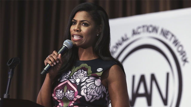 Omarosa Manigault-Newman speaks at the Women's Power Luncheon of the 2017 National Action Network convention, in New York. (AP Photo/Richard Drew, File)