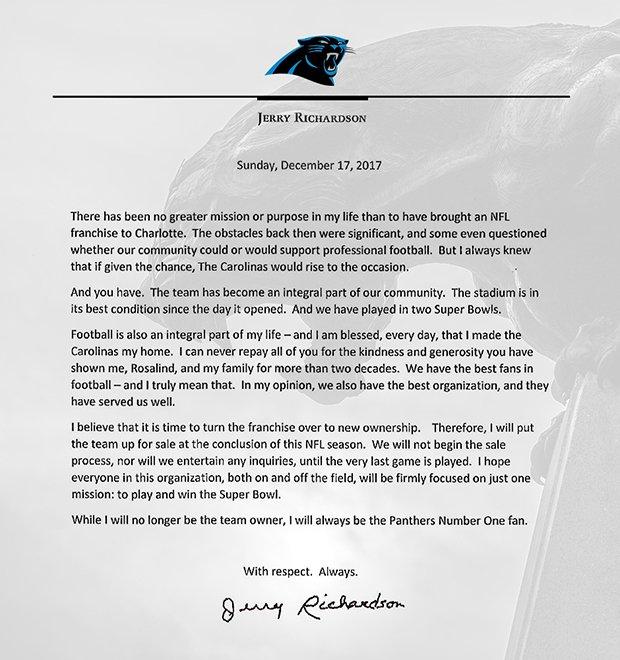 (Source: Carolina Panthers)