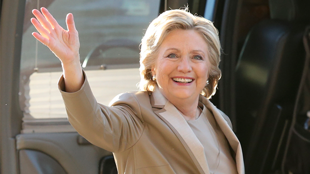 In this Nov. 8, 2016 file photo, Democratic presidential candidate Hillary Clinton waves as she arrives to vote at her polling place in Chappaqua, N.Y.  (AP Photo/Seth Wenig, File)