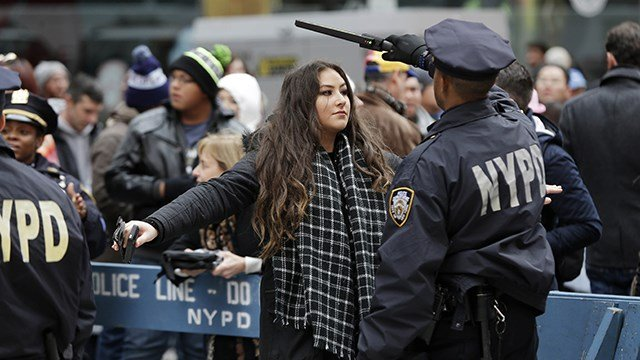 NYPD officials are promising a bigger security detail than ever before at the Sunday, Dec. 31, 2017, New Year's Eve celebration in Times Square. (AP Photo/Seth Wenig, File)