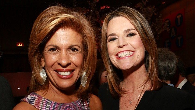 Hoda Kotb, left, and Savannah Guthrie attend The 35 Most Powerful People in Media hosted by The Hollywood Reporter at The Four Seasons Restaurant on Wednesday, April 8, 2015, in New York. (Amy Sussman/Invision for The Hollywood Reporter/AP Images)
