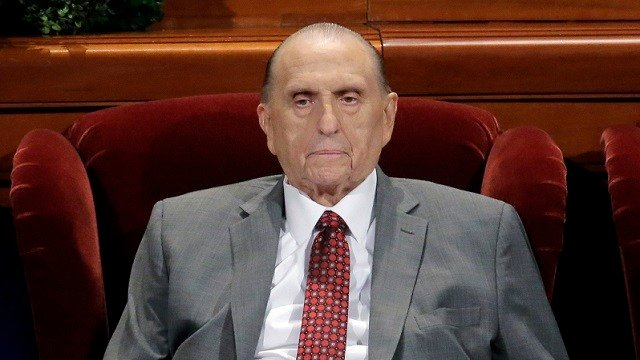 Thomas S. Monson, the 16th president of the Mormon church, has died after nine years in office.  (AP Photo/Rick Bowmer, File)
