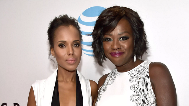 Kerry Washington and Viola Davis will team up for 'Scandal'/'How to Get Away with Murder' crossover episodes. Full (Credit: Alberto E. Rodriguez/Getty Images North America/Getty)