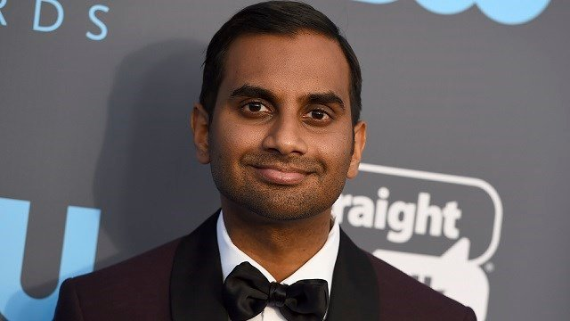 Aziz Ansari arrives at the 23rd annual Critics' Choice Awards at the Barker Hangar on Thursday, Jan. 11, 2018, in Santa Monica, Calif. (Photo by Jordan Strauss/Invision/AP)