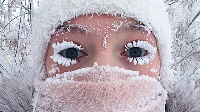 Even eyelashes freeze as parts of Russian Federation hit -67 degrees Celsius