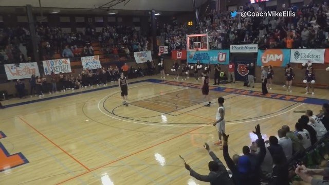 Freshman Basketball Player Wins Game on a Long Shot, Crowd Goes Wild