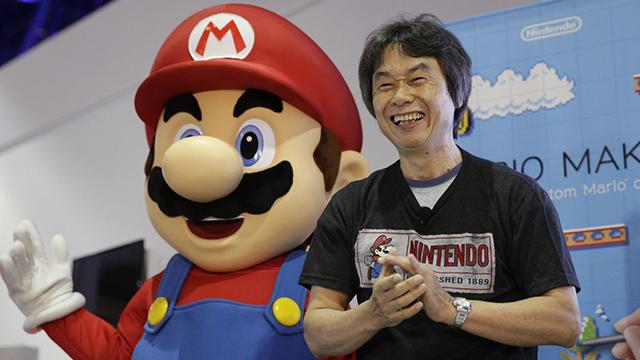 "Shigeru Miyamoto, the video game mastermind behind ""Super Mario Bros."" (Evan Agostini / Invision / Associated Press)"