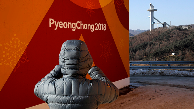 North Korea's first Olympic competitor flops