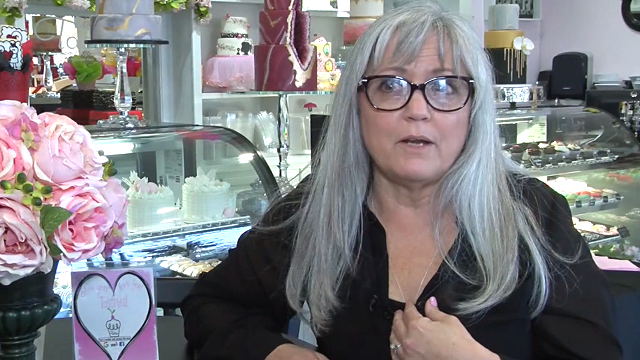 Cathy Miller, the owner of Tastries Bakery in Bakersfield, Calif., won a court case allowing her to refuse to bake wedding cakes for same-sex couples due to her Christian beliefs. (Source: KERO via CNN)