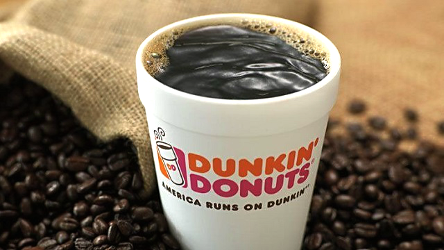 The coffee chain will eliminate polystyrene styrofoam cups in its global supply chain beginning in spring 2018, the company said. It plans to eliminate foam cups altogether by 2020. (Source: Dunkin' Donuts via CNN)