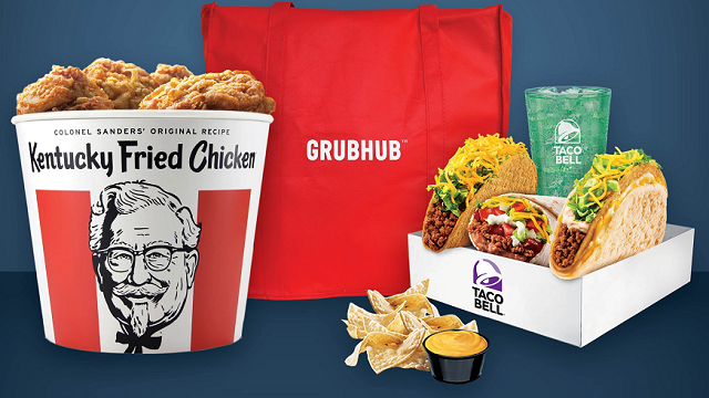 Grubhub investors were wild about the news -- its stock soared 28% Thursday. (Source: Grubhub via CNN)