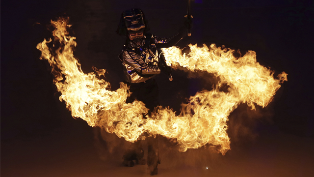 A dancer performs during the opening ceremony of the 2018 Winter Olympics in Pyeongchang, South Korea, Friday, Feb. 9, 2018.  (AP Photo/Michael Sohn)