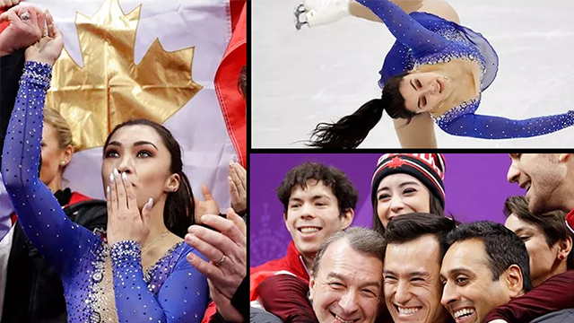 (AP Photo/David J. Phillip). Gabrielle Daleman of Canada reacts as her score is posted following her performance in the ladies single skating free skating in the Gangneung Ice Arena at the 2018 Winter Olympics in Gangneung, South Korea, Monday, Feb. 12..