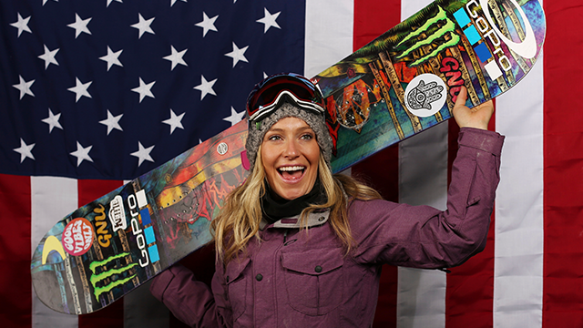 U.S. Olympic Winter Games slopestyle hopeful Jamie Anderson poses for a portrait at the 2017 Team USA media summit Wednesday, Sept. 27, 2017, in Park City, Utah. (AP Photo/Rick Bowmer)