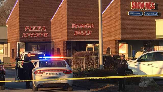 1 person was killed and another was wounded in a shooting at Show-Me's in Florissant Wednesday. (Credit: KMOV)