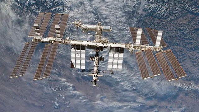 (Source: CNN) File photo of the International space station on February 19, 2010.