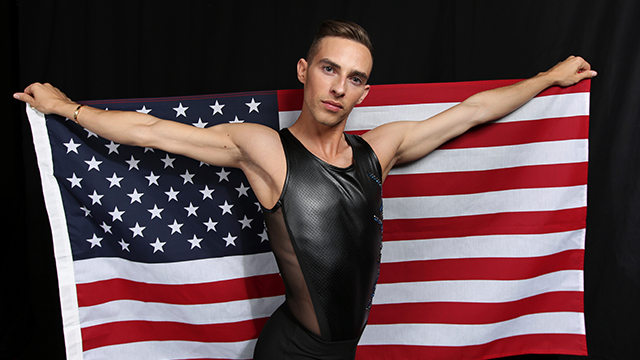 United States Olympic Winter Games figure skater Adam Rippon poses for a portrait at the 2017 Team USA Media Summit Monday, Sept. 25, 2017, in Park City, Utah. (AP Photo/Rick Bowmer)