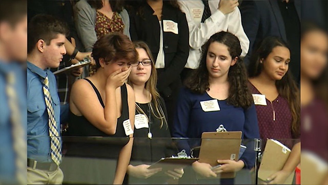 (Source: Bay News 9 via CNN) Students react to Florida House rejecting assault weapons ban.