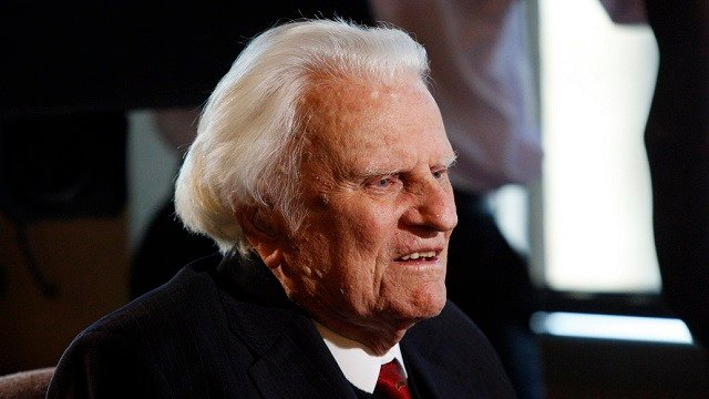 In this Dec. 20, 2010 file photo, evangelist Billy Graham, 92, is interviewed at the Billy Graham Evangelistic Association headquarters in Charlotte, N.C.