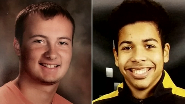 Xavier Staubs (right) is credited with saving Kamrin Samson (left) when he began to drown. (Source: Family Photos via WNEM)
