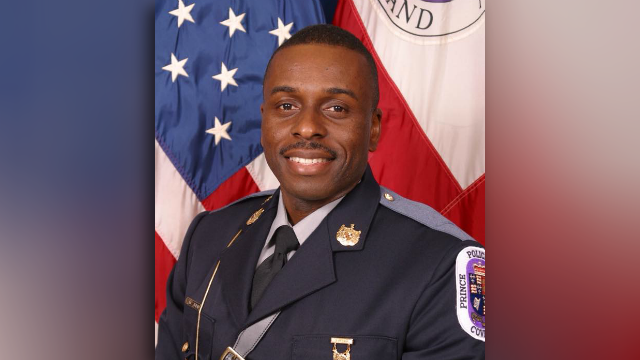 In this undated image, officer Mujahid Ramzziddin poses for a photo. (Source: Prince George's County Police)
