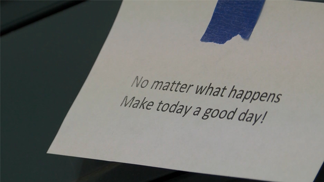 Students post positive messages on every locker in school   WSMV