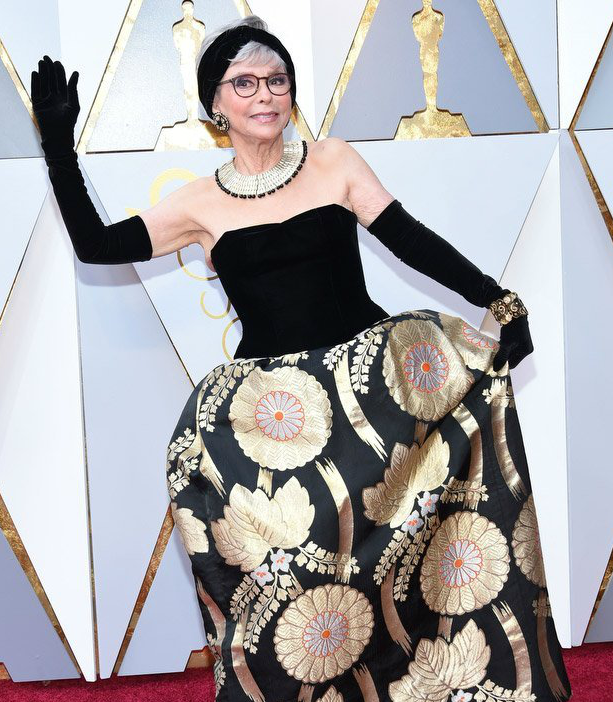 Actress Rita Moreno arrives for the 90th Annual Academy Awards on March 4, 2018, in Hollywood, California. (Valerie Macon/AFP/Getty Images)