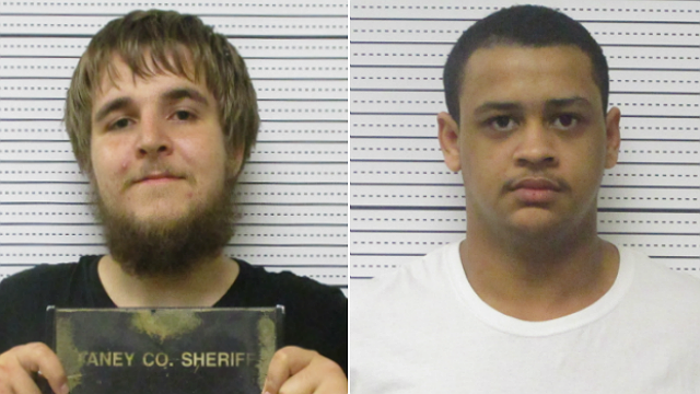 Kyle Williams, left, and Jordan Hall, right, have been sentenced for killing a kitten in Missouri. (Source: Taney County Jail)