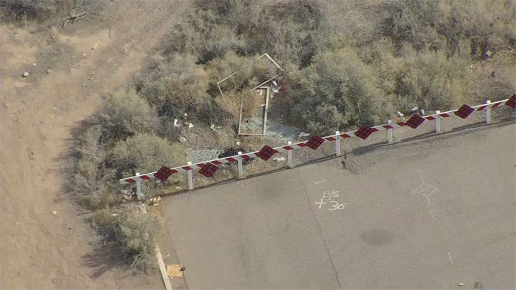 Scene near 107th Avenue and Camelback Road where a body, believed to be that of Jasmine Dunbar, was found on March 7, 2018. (Source: KTVK)