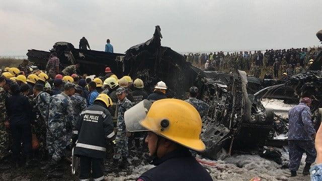 Bangladesh aircraft crashes at Nepal's Kathmandu airport