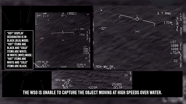 Video appears to show Navy jet encounter with possible UFO