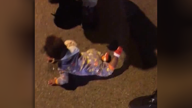 Baby found crawling in middle of busy NY road